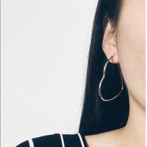 Heart hoop earrings